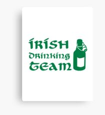 Irish drinking team beer Canvas Print