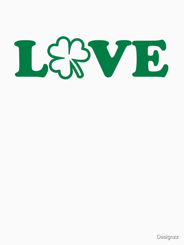 Irish shamrock love by Designzz