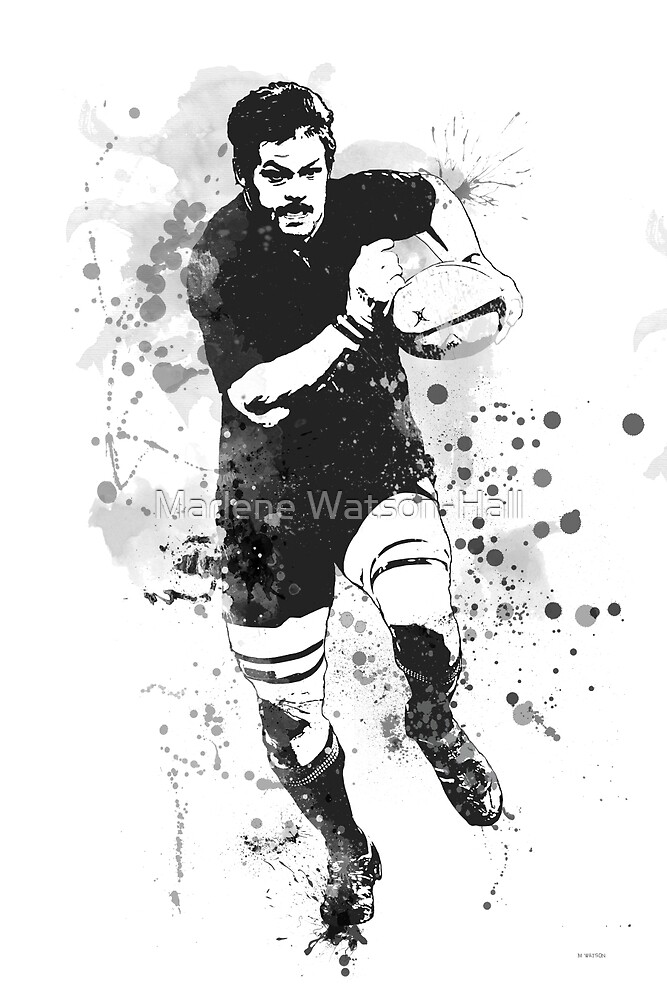 Rugby Player by Marlene Watson