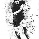 Rugby Spieler von Marlene Watson
