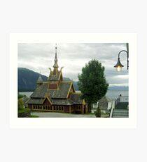 St. Olav church - Balestrand - Norway Art Print