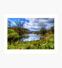 Rydal Water, Lake District Art Print