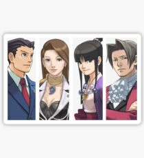 Ace Attorney Panels Sticker