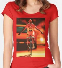 Marco Pantani Painting Women's Fitted Scoop T-Shirt