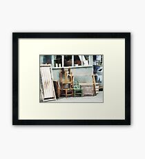 Maniacal Chairs  Framed Print
