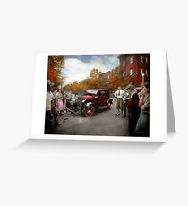 Car - Accident - Late for tee time 1932 Greeting Card