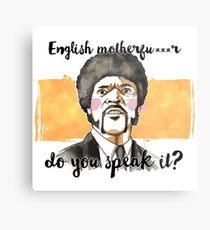 Pulp fiction - Jules Winnfield - English motherfu***r do you speack it? Metal Print