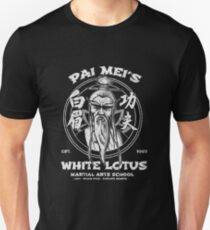 weißer Lotus Slim Fit T-Shirt