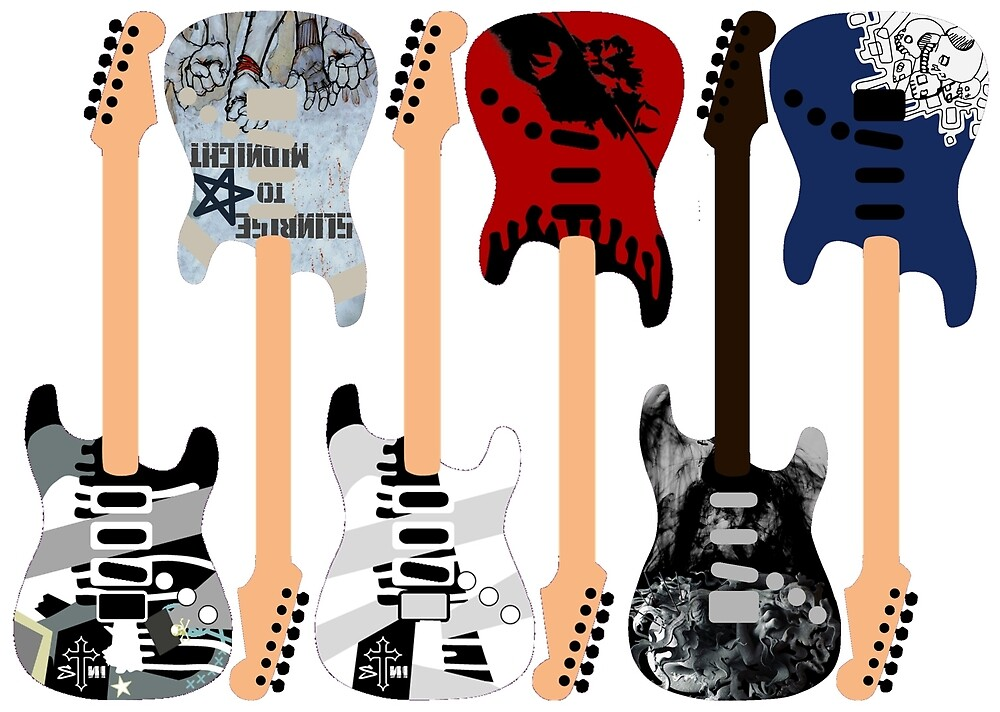 Linkin Park Guitars by Chloe Fisher
