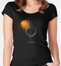 Colour Acoustic Guitar Hi-Lite Women's Fitted Scoop T-Shirt