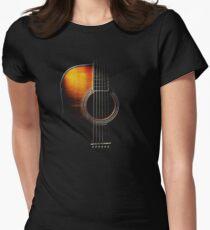 Colour Acoustic Guitar Hi-Lite Women's Fitted T-Shirt