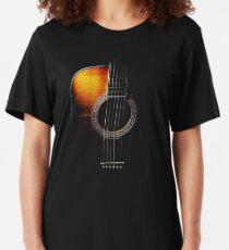 Colour Acoustic Guitar Hi-Lite Slim Fit T-Shirt