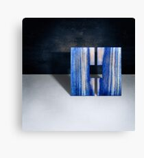 Blue Square Split Canvas Print