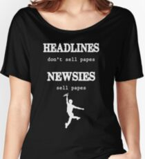 Newsies Sell Papes Women's Relaxed Fit T-Shirt