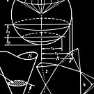 Vintage Math Diagrams - white on black by funmaths