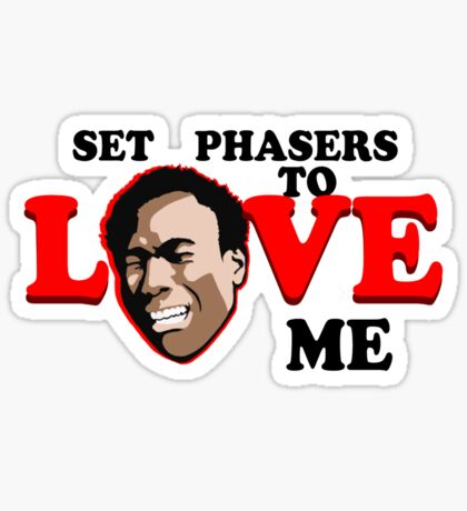 Set Phasers to Love Sticker
