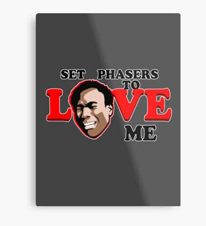 Set Phasers to Love Metal Print
