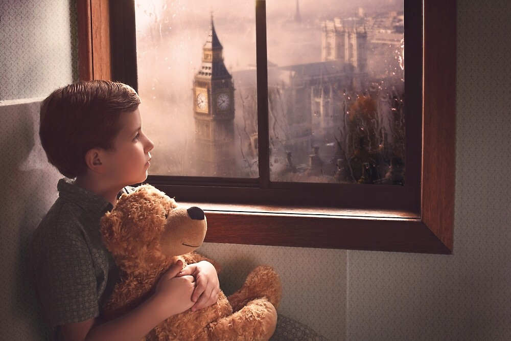 A Boy, his bear and Big Ben by MagicalReality