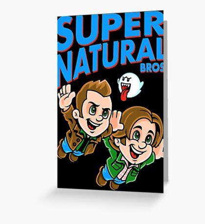 Super Natural Bros Greeting Card