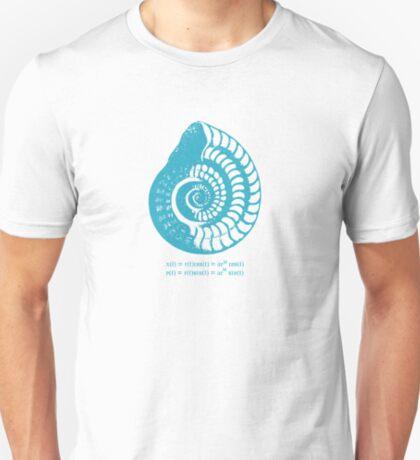 Spiral Shell with Math (blue) T-Shirt