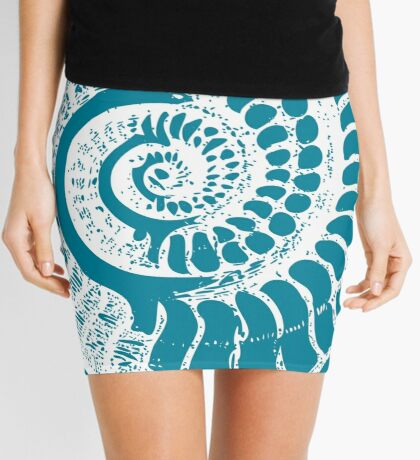 Spiral Shell with Math (blue) Mini Skirt