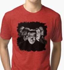 Classic Monsters Black & White POP! Tri-blend T-Shirt