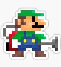 Luigi's 8-Bit Mansion Sticker