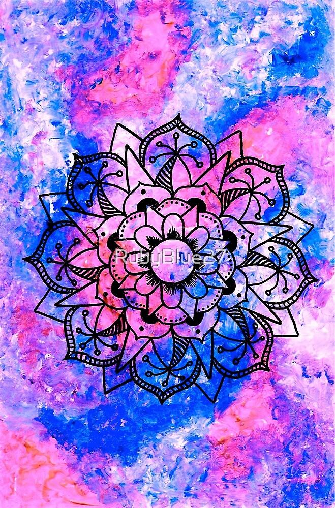 Acrylic Mandala Design by RubyBlue27
