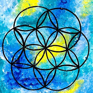 zen circle acrylic design by RubyBlue27
