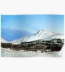 Flat top mountain Poster