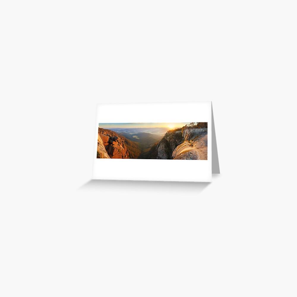 Mt Buffalo Gorge Dawn, Victoria, Australia Greeting Card