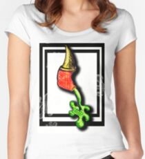 Weird Pen Drawing-Leaking Women's Fitted Scoop T-Shirt