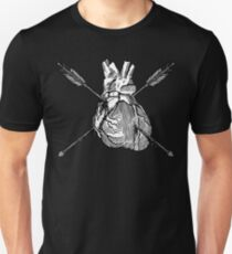 Valentine Heart With Arrows Slim Fit T-Shirt