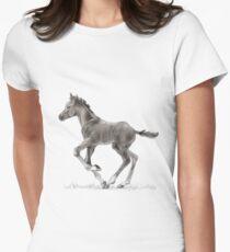 Drawing portrait of running foal T-Shirt