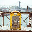 Brooklyn Bridge emergency box - NYC by Mark  Bennett