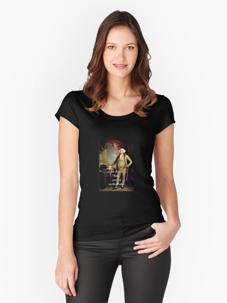 John Adams Women's Fitted Scoop T-Shirt Front