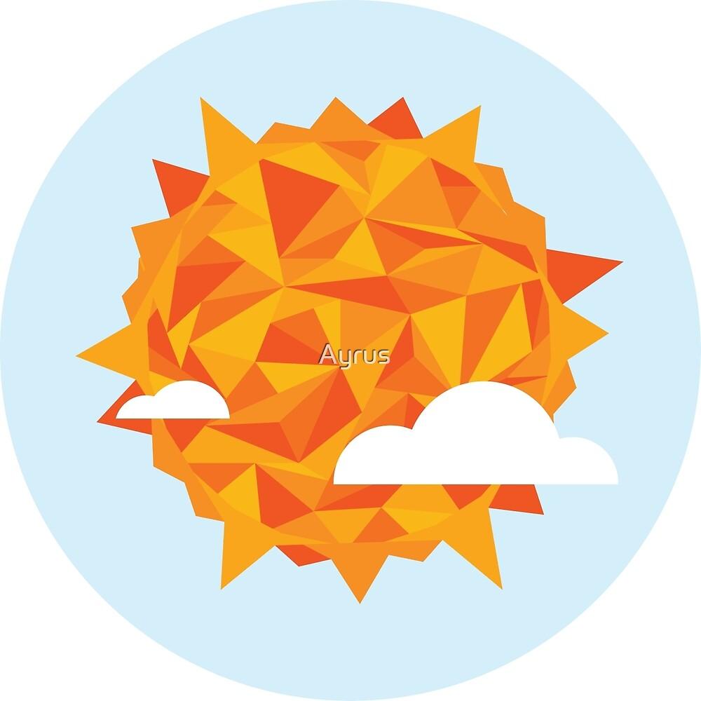 Low Poly Sun w/ Background by Brandon Surya