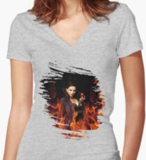 The Evil Queen - Once Upon a time Women's Fitted V-Neck T-Shirt