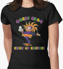 Mardi Gras Drink Up Bitches Women's Fitted T-Shirt