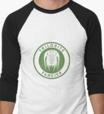 Trilobite Fancier (green on white) Men's Baseball ¾ T-Shirt