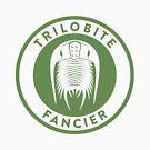 Trilobite Fancier (green on white) by David Orr