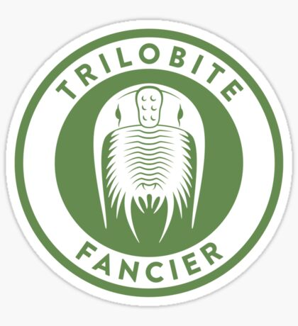 Trilobite Fancier (green on white) Sticker