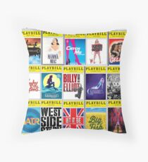 Broadway Playbill Palooza Throw Pillow