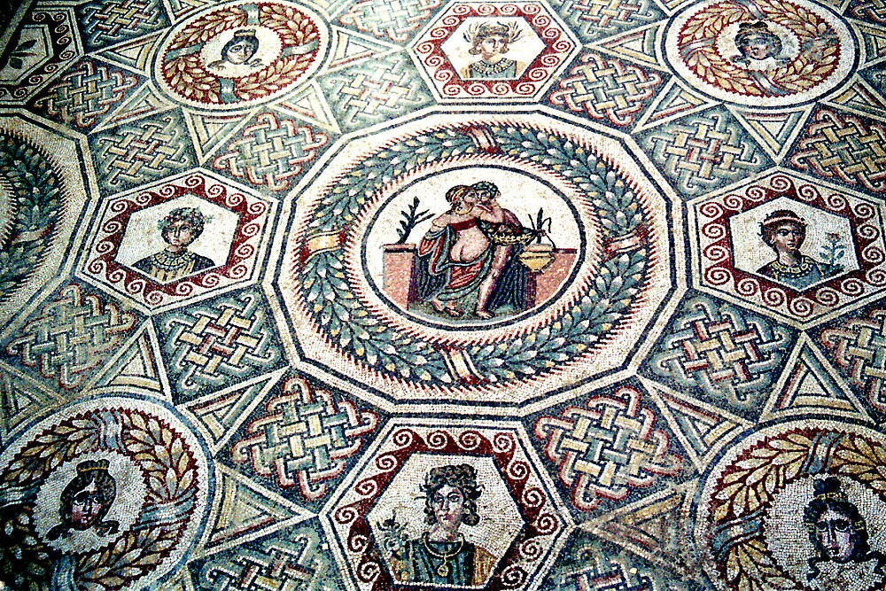 2000 Years old floor mosaic by Arie Koene