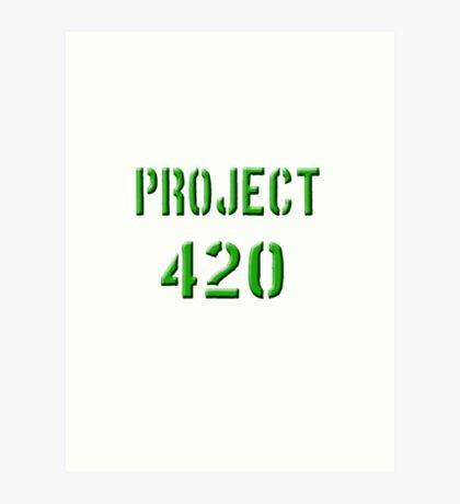 PROJECT 420 green 0002 Art Print