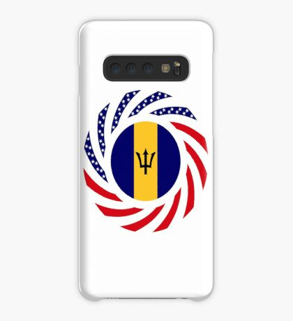 Barbadian American Multinational Patriot Flag Series Case/Skin for Samsung Galaxy