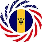 Barbadian American Multinational Patriot Flag Series by Carbon-Fibre Media