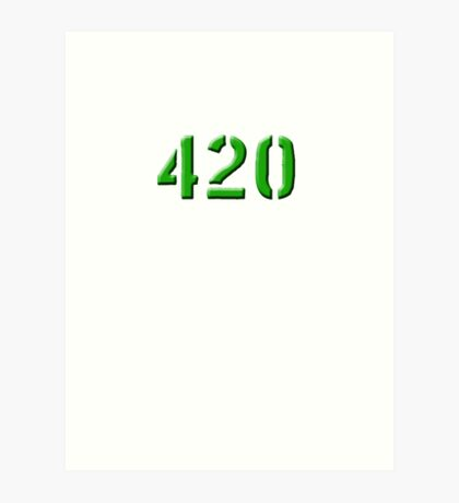 420 green 0001 Art Print