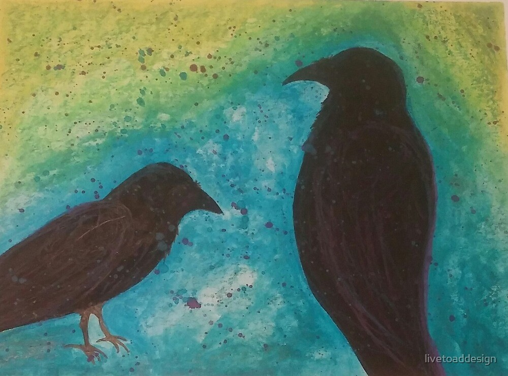 Electric Crows by livetoaddesign