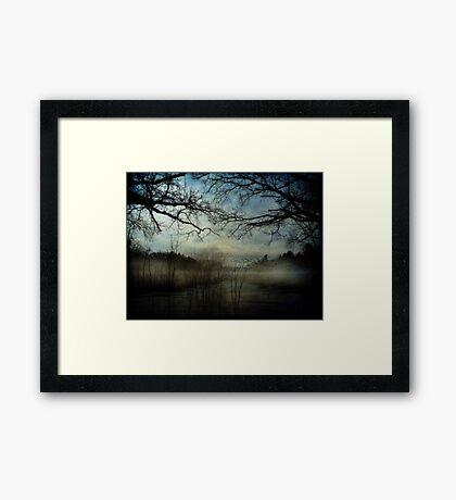Veil of In Between Framed Print